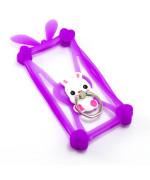 """Универсальный силиконовый чехол бампер ZBS Eyelet ring 4-5"""" (фиолетовый)"""