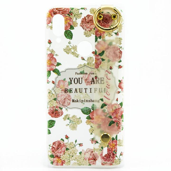 Силіконовий чохол накладка Epik Flowers для Xiaomi Redmi Note 7