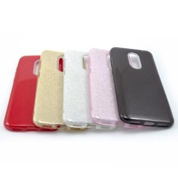 Силиконовый чехол накладка Fashion Case Glitter 3 in 1 для Xiaomi Redmi 5 Plus