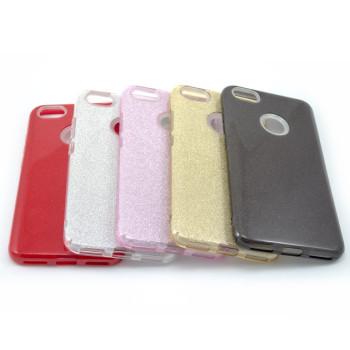 Силиконовый чехол накладка Fashion Case Glitter 3 in 1 для Xiaomi Redmi Note 5A Prime