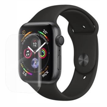 Захисне скло 3D Tempered Glass UV для Apple Watch 44mm з клеєм і лампою, Transparent