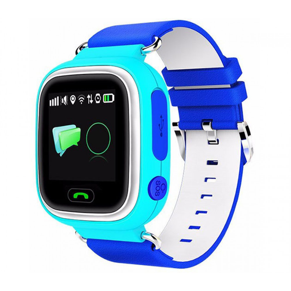Smart Baby Watch Q90 GPS-трекер. синий