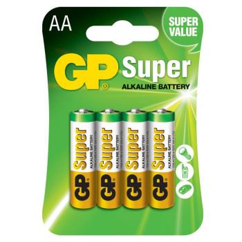 Батарейка GP AA LR6 Super Alkaline 15A 1.5V (4 шт.), Green