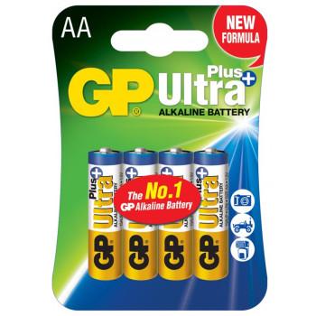 Батарейка GP AA LR6 Ultra Plus Alkaline 15AUP 1.5V (4 шт.), Blue