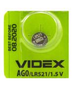 Батарейка Videx AG 0 LR521 1,5V Silver