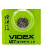 Батарейка Videx AG 11 LR721 1,5V Silver