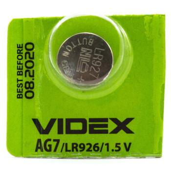 Батарейка Videx AG 7 LR926 1,5V Silver