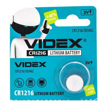 Батарейка Videx CR1216 5034LC 3V, Silver