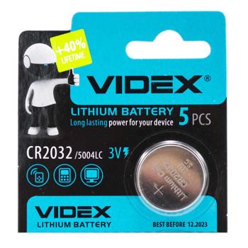 Батарейка Videx CR2032 5004LC 3V, Silver