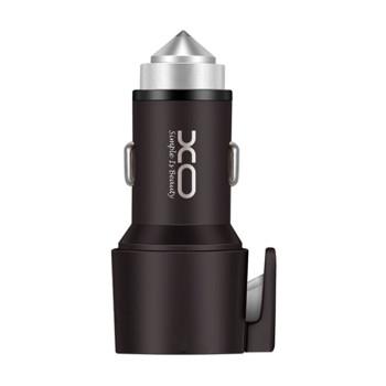 Автомобильное зарядное устройство XO CC-03 2.4A, 2 USB, Safety Hummer