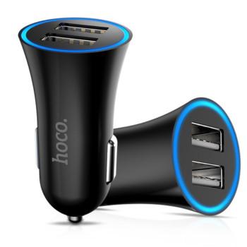 Автомобильное зарядное устройство Hoco UC204 2.4A, 2 USB