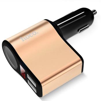 Автомобільний зарядний пристрій Hoco Z10 2.1A, 2 USB Black
