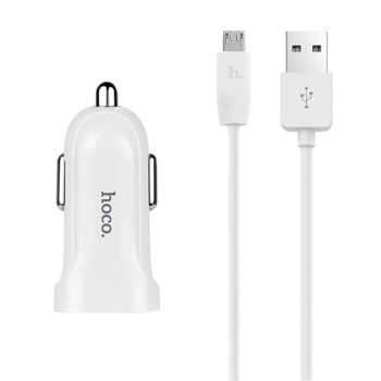 Автомобільний зарядний пристрій Hoco Z2 1.5A micro USB White