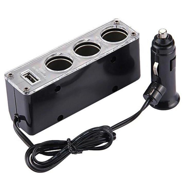 Автомобильный разветвитель прикуривателя WF-0096 Black