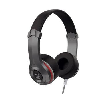 Полноразмерные наушники-накладки hoco W6 Cool с микрофоном