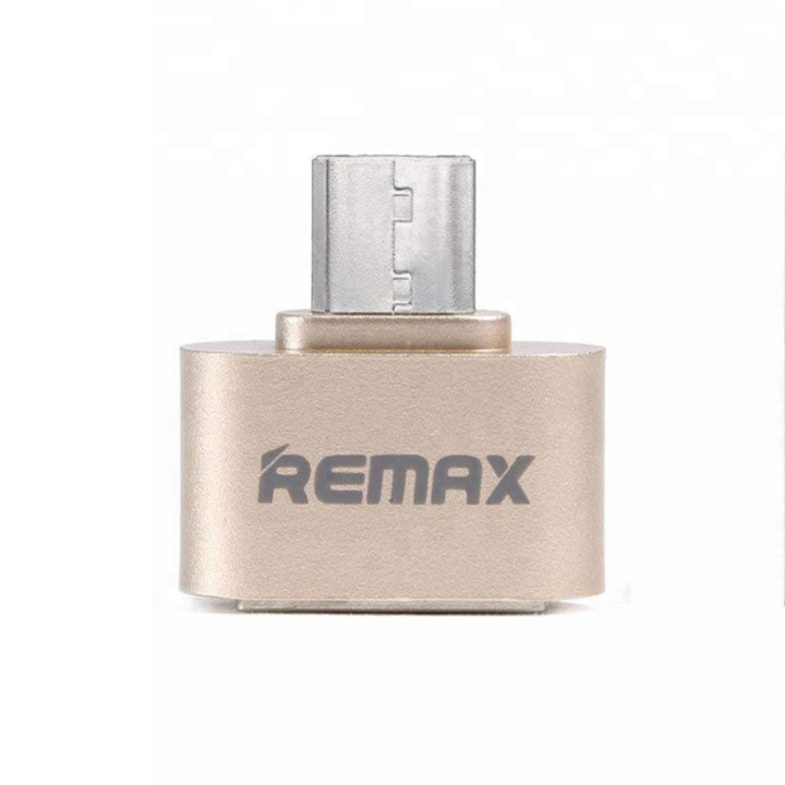 Переходник RA-OTG Remax USB - Micro USB золотой