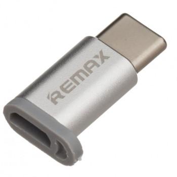 Переходник OTG Remax RA-USB1 micro USB - Type-C Steel