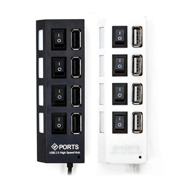 USB HUB TOTO hi-speed 4 USB 2.0 з перемикачами, розгалужувач