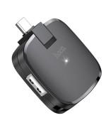 Hub адаптер Hoco HB11 Type-C 3 USB, Black