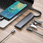 Hub адаптер Hoco HB13 Easylink Type-C 3 USB / HDMI / PD 60W, Black