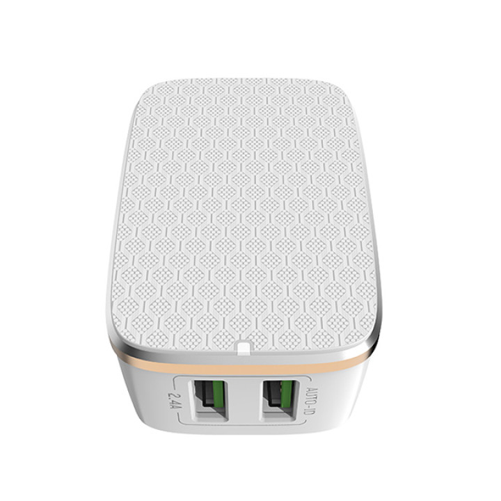 Сетевое зарядное устройство LDNIO A2204 Micro 2 USB 2.4а White