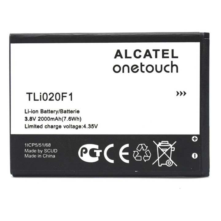 Аккумулятор 7047D для Alcatel 7047D One Touch Pop C9 (ORIGINAL) 2000mAh