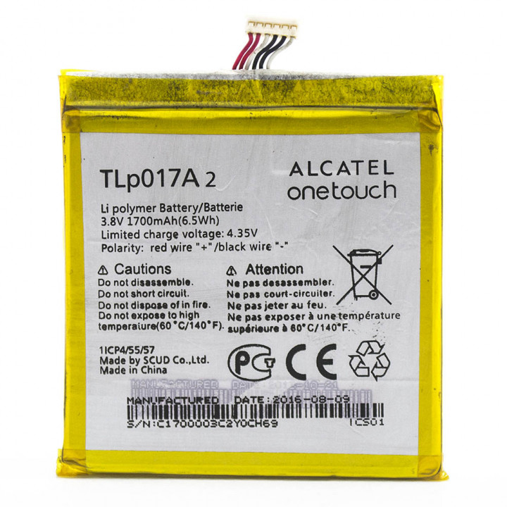 Аккумулятор TLP017A2 для Alcatel One Touch Idol mini 6012X, Idol mini 6012D (ORIGINAL) 1700мAh