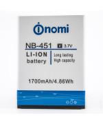 Акумулятор NB-451 для Nomi  i451 (ORIGINAL) 1700mAh