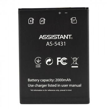 Акумулятор AS-5431 для Assistant AS-5431 (Original), 2000 mAh