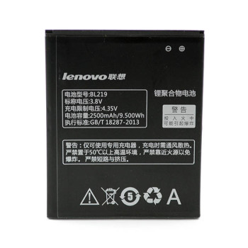 Аккумулятор для BL219 (Original) для Lenovo A880/ A889/ S856/ A916/ A850 Plus/ A805e/ A300T/ A388T/ S810T/ A768T/ A890e CDMA GSM, 2500мAh