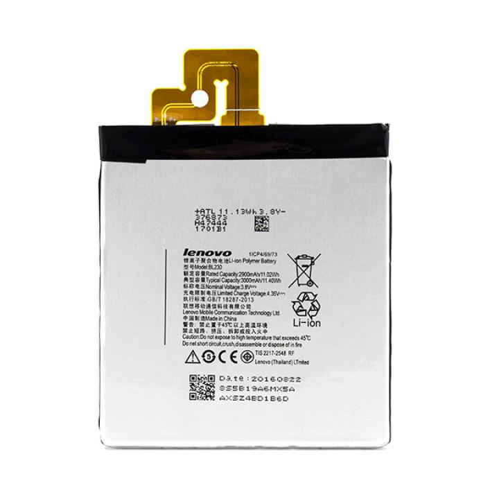 Аккумулятор BL230 для Lenovo VIBE Z2, Z2T, Z2W 2900-мAh.