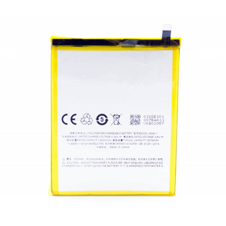 Аккумулятор BA611 для Meizu M5 3070мAh