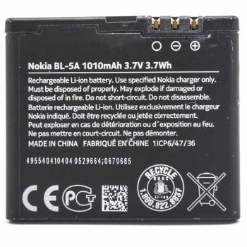 Аккумулятор BL-5A для Nokia Asha 502 (Original) 1010mAh