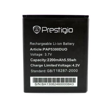 Аккумулятор PAP5300 / PSP5307 для Prestigio MultiPhone 5300 DUO / PSP5307, 2200мAh
