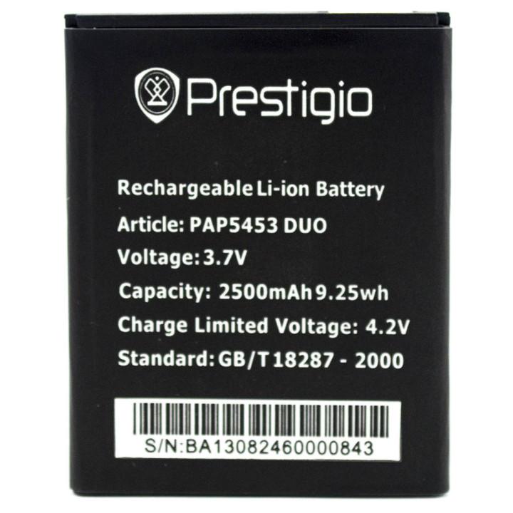 Аккумулятор PSP5453 для Prestigio MultiPhone 5453 DUO (Original) 2500mAh