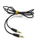 Aux кабель 1М силиконовый Black
