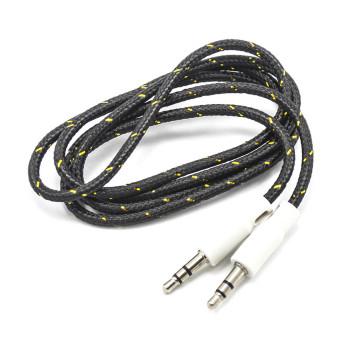 Aux кабель 1М с тканевым оплеткой с золотом
