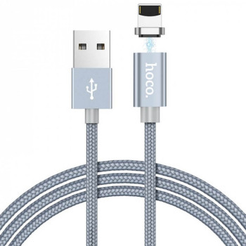 DATA-кабель Hoco Magnetic Charging Cable U40A Lightning, Black 1м