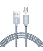 DATA-кабель Hoco Magnetic Charging Cable U40A Micro USB, 1м Gray