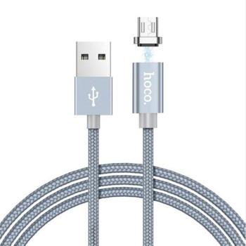 DATA-кабель Hoco Magnetic Charging Cable U40A Micro USB, 1м Gray