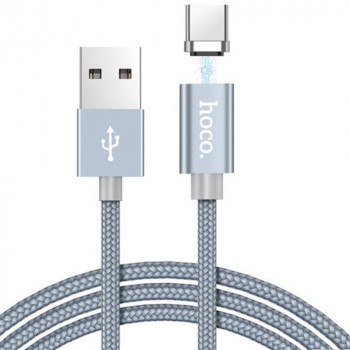 DATA-кабель Hoco Magnetic Charging Cable U40A Type-C , Black  1м