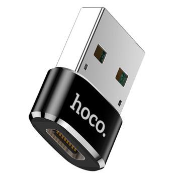 Переходник OTG Hoco UA6 Type-C - USB Black