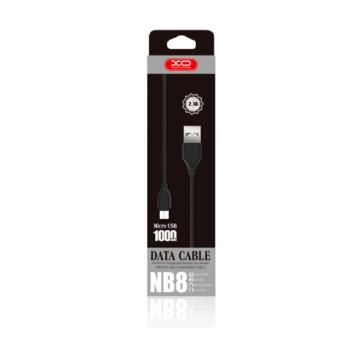 Data-кабель XO NB8 Micro USB 2.4A 1м.