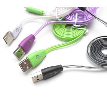 micro USB кабель с LED подсветкой 1м