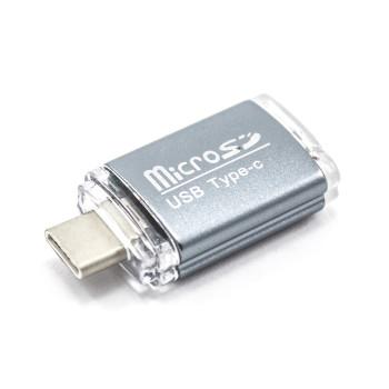 Кардридер (Card Reader) OTG C&Q microSD для Type-C
