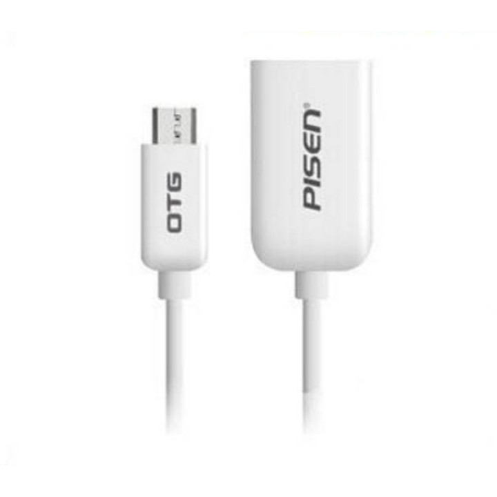 OTG кабель micro USB PISEN White