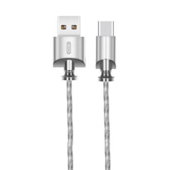 DATA-кабель XO NB39 Type-C 1м Steel
