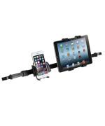 Подвійний автомобільний тримач iMount 50HD12-88 для смартфонів та планшетів у підголовники Black
