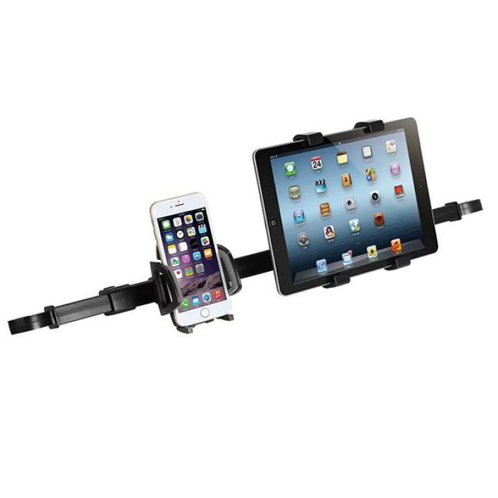 Двойной автомобильный держатель iMount 50HD12-88 для смартфонов и планшетов в подголовники Black