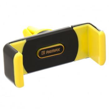 Автомобільний пружинний тримач Remax RM-C01 в дефлектор Yellow Black